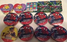 MAGIC TOWEL Washcloth Mixed Lot 13 Party Favor Spider-Man TMNT Paw Patrol Tsum