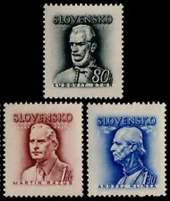 ✔️ SLOVAKIA 1944 - FAMOUS PERSONS (NO WATERMARK) - SC.93/94/94A MNH OG [SK111]