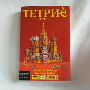 Tetris The Soviet Challenge Vintage Commodore 64/128 1987 Untested