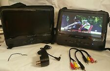 """Insignia  NS-DS9PDVD15 9"""" Dual Player Portable DVD Players - Black"""