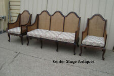 59166 Antique 3 piece Sofa with 2 Chairs Parlor Set