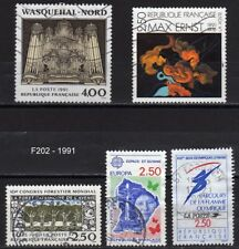 Lot Timbres France obl - 1991 - FF202