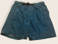 New listing The North Face Belted Board Shorts Swim Trunks Blue, Gray Print Men's Size Large