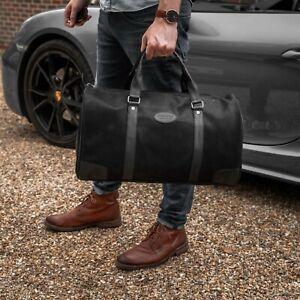 Men Women Bag Holdall Duffle Foldable Bag Holiday Sports Gym Handheld Bag Black