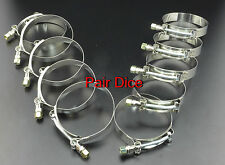 """TEN 3.5"""" T Bolt Stainless Clamp Turbo Charge Pipe Silicone Coupler Intercooler"""