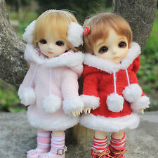 1/8 16cm Lati-Y/Puki Fee/AE/AI/BJD Clothes Red/Pink Fluffy Hoodie Coat/Suit(2pc)