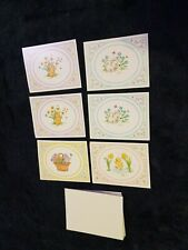 6 Vintage CURRENT Blank Greeting Card w. Envelopes Bear kitty duck bunny animal