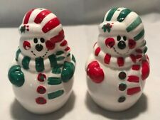 Christmas Snowman Salt And Pepper Shakers Excellent