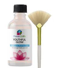40% 100% Pure LACTIC ACID Skin Chemical Peel Kit and Free Fan Brush