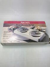 Double Burner Portable Cooktop Aroma Dual Electric Range Stove Top AH4