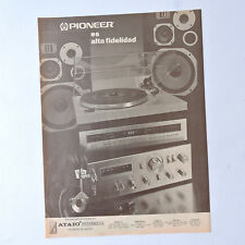PIONEER SA-7800 TX-D1000 / Advert Publicidad Reklame Pubblicita Publicite Hi-Fi