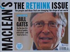 BILL GATES   September 2010 MACLEAN'S Magazine