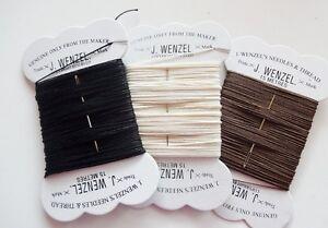 Wenzel Plaiting Thread & Needle 15m Horse Black Brown White BUY 3 GET 1 FREE