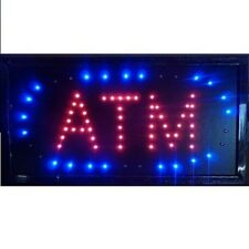 Animated Motion Led Business Atm Machine Sign OnOff Switch Open Light Neon $Cash