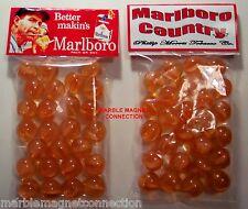 2 BAGS OF MARLBORO BRAND CIGARETTES ADVERTISING PROMO MARBLES
