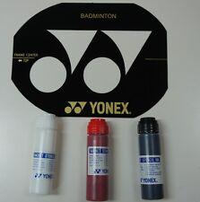 Yonex Badminton Stencil Card & 3 Bottles Yonex Stencil Inks (Red, Black & White)