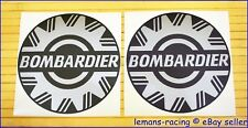 Bombardier Silver Sea Doo Decals Stickers Emblems BRP x2 pieces