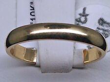 Nuova Vero 10k Oro Giallo Semplice Fedina,3mm Matrimonio,Casual,Fidanzamento,N