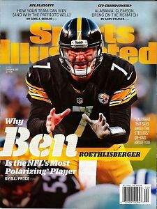 New Sports Illustrated Pittsburgh Steelers Ben Roethlisberger 1/9 2017 No Label