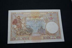 Yugoslavia / Serbia - 1000 Dinara 1920 RARE !!!