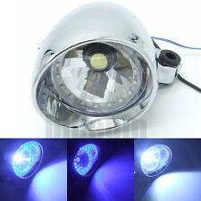 Motorcycle Chrome LED Angel Eye Headlight Lamp For Bobber Chopper Cruisers New