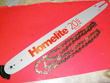 "NEW  20"" BAR & CHAIN COMBO FITS HOMELITE CHAINSAWS 3/8 050 70 L A07562-X OEM"