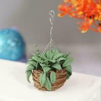 1:12 Dollhouse Miniature Handmade Tiny Small Green Models Plant Pot Clay Tr D1M1