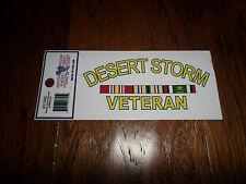 U.S Military Desert Storm Veteran Window/Bumper Decal Made In U.S.A