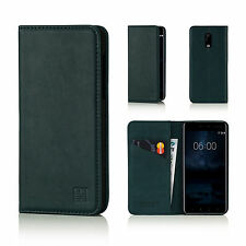 32nd Classic Genuine Real Leather Slim Wallet Case Cover For Nokia Phones
