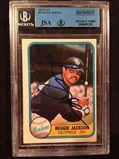 Reggie Jackson Auto Signed 1981 Fleer Card #79 HOF ~ JSA Auth COA Slab