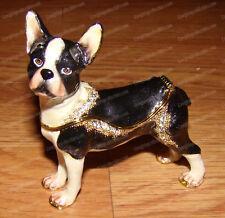 Boston Terrier Treasure, Trinket, Jewelry Box (Pedigree Dog, 3915) Bejeweled