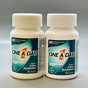 One A Day Women's Active Metabolism Multivitamin 50 Tablets 2PK Exp 11/21+