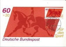 Germany  1980  Sport Horse  Bonn  Erstausgabetag  60 + 30 Pf.  Maximum Maxi Card