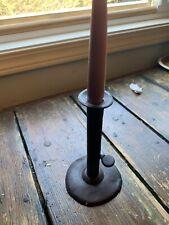 """Early Iron Hog Scraper Candlestick 7"""" AAFA"""