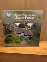 English Village Cottage 1000 Piece Jigsaw Puzzle