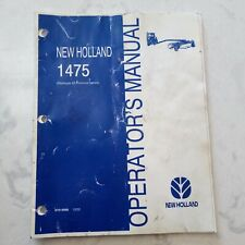 New Holland 1475 Haybine Operator's Manual - Owners Manual
