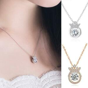 S925 CROWN SPARKLING NECKLACE Fine Charms & Charm Bracelets UK FAST SHIPPING