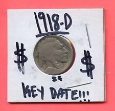 1918-D 5C Buffalo Nickel. Circulated. Lot #369
