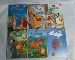 Walt Disney Bundle Of 6 Classic Story books! Snow White Jungle Book Bambi & More