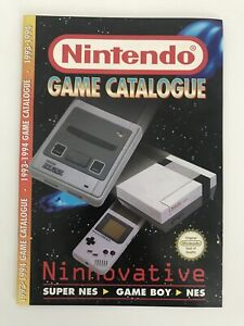 Vintage Official NINTENDO GAME CATALOGUE 1993-94 (SNES, Game Boy, NES) 36 pages