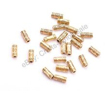 20Pcs Antique Silver/Gold/Bronze Charm Flower TUBE Spacer Beads 9MM D3032