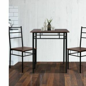 New Dining Table and Chairs Set Kitchen Chair Restaurant Wooden Metal Black