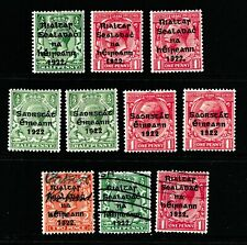 Ireland 1922 Small group of Mint hinged & Used King George V Overprints - (225)