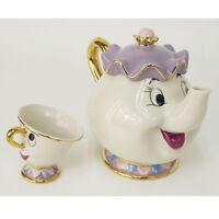 Disney Beauty and The Beast Mrs. Potts Chip Teapot or Cup set Teapot Mug, Xmas