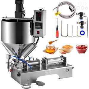 Pneumatic Filling Machine Liquid and Paste Filling Machine 500ml, Heating Mixing