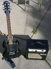 Epiphone Valve Junior Amplifier & G-310 SG Electric Guitar With Stand & Case