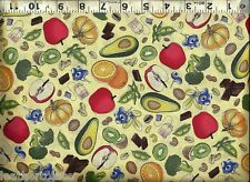Quilting Treasures ~ Antioxidant Super Foods Nuts ~ 100% Cotton Quilt Fabric BTY