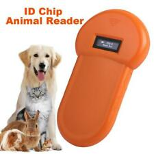 Portable Animal Microchip Tag Barcode Scanner Pet RFID Chip Reader LCD Display