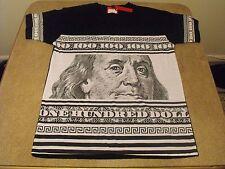 XL Victorious black Ben Franklin, $100 dollar bill, urban, Low Rider t-shirt.