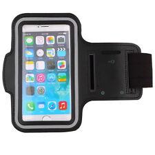 SPORT Running Jogging Palestra Bracciale Fascia braccio Custodia Cover HOLDER PER IPHONE 6 NERO